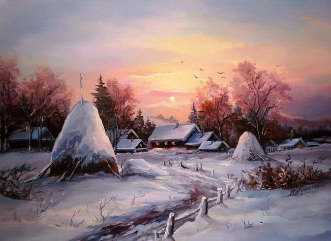 Picturi de iarna ASFINTIT DE BOBOTEAZA