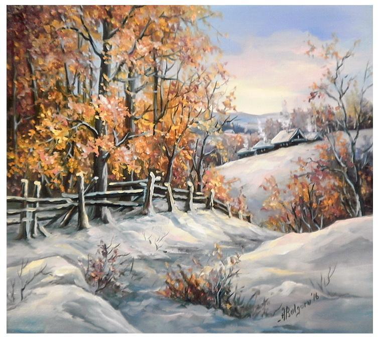 Picturi de iarna CU IARNA LA DRUM