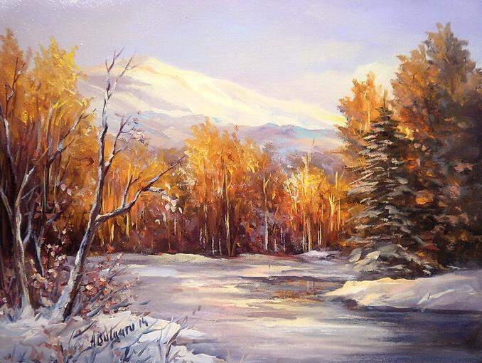 Picturi de iarna CULORILE TACERII