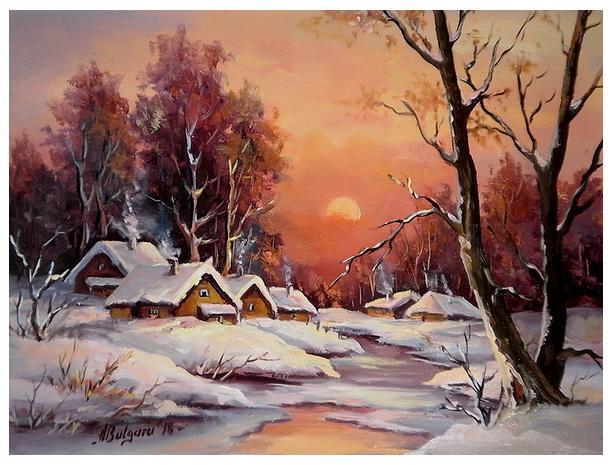 Picturi de iarna FOCUL GERULUI