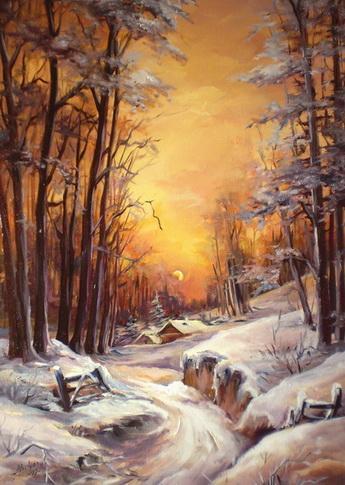 Picturi de iarna IARNA IREALA 2010