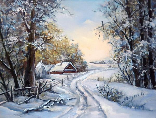 Picturi de iarna IARNA LA BUNICI