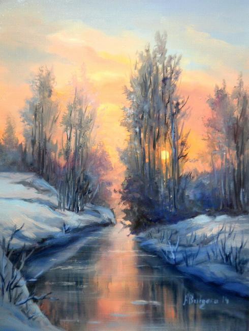 Picturi de iarna IN LUMINA RASARITULUI