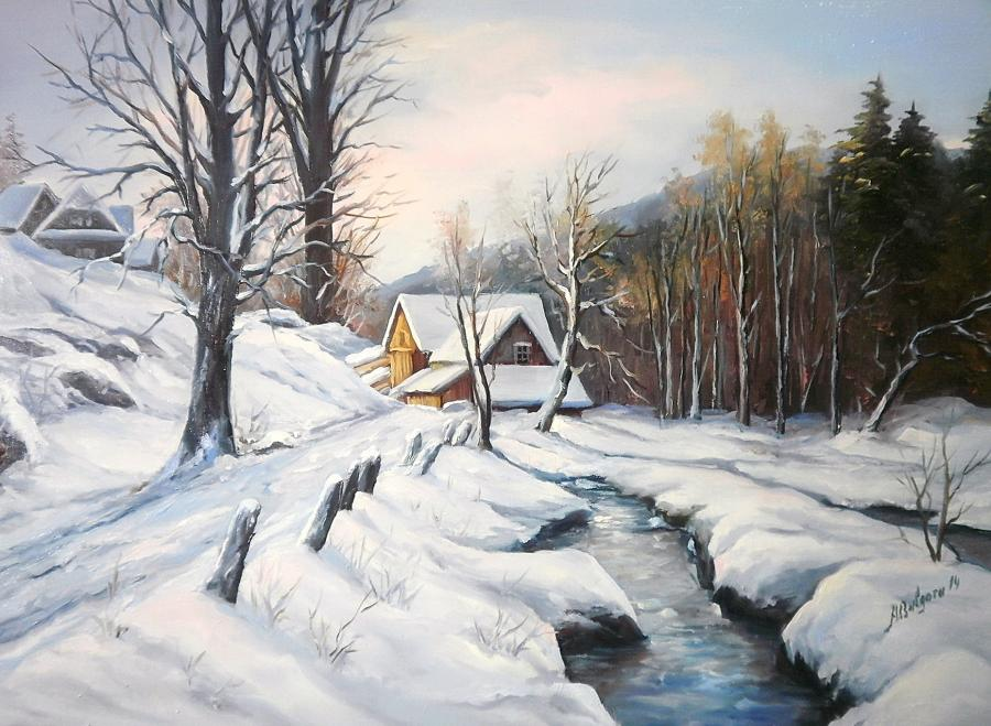 Picturi de iarna INAPOI SPRE CASA