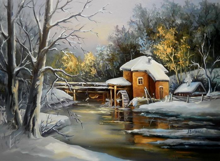 Picturi de iarna LACUL MORII