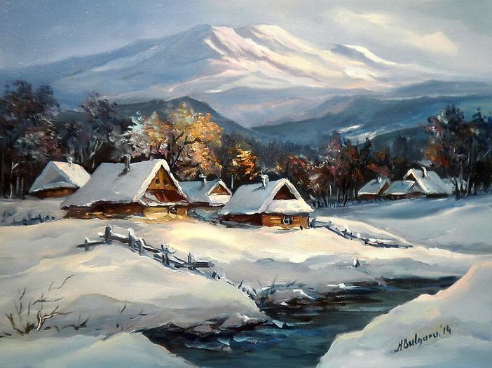 Picturi de iarna NAMETI ALBASTRI