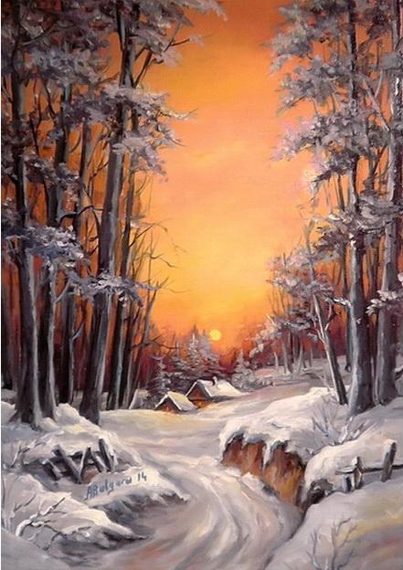 Picturi de iarna O IARNA IREALA