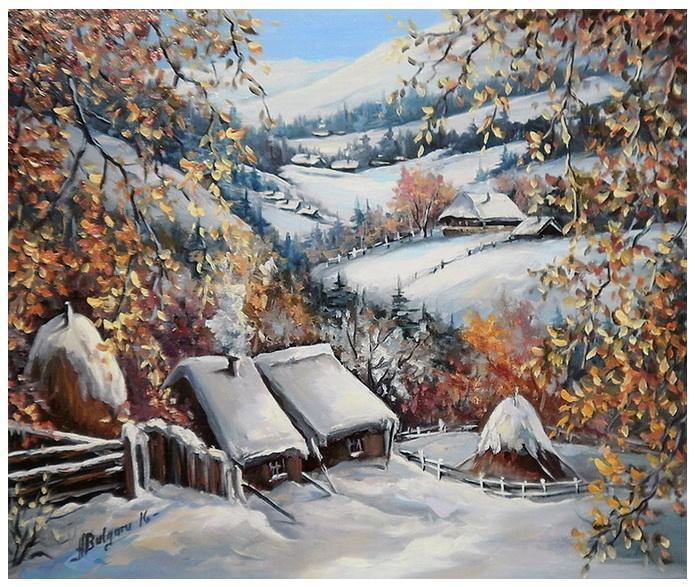 Picturi de iarna O IARNA TIMPURIE