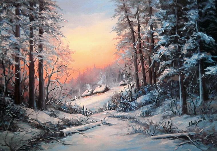 Picturi de iarna O POVESTE CU OMAT