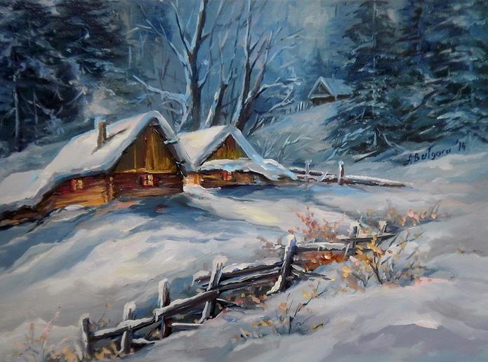 Picturi de iarna POVESTE DE IANUAR