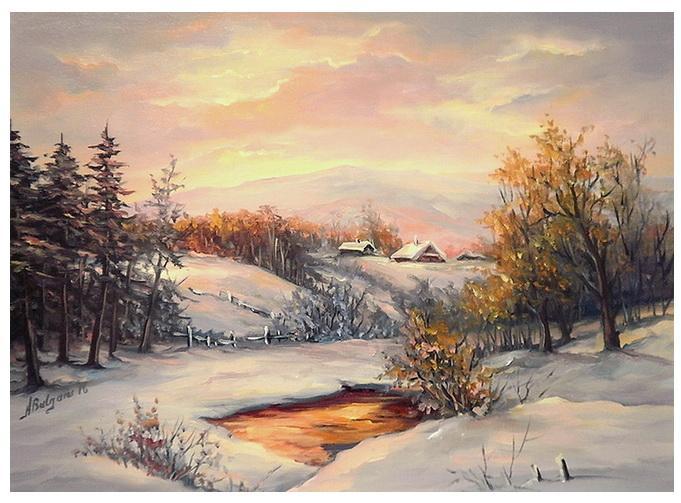 Picturi de iarna RASARIT DE IARNA (2)