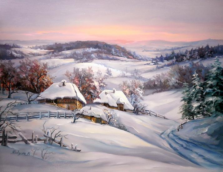 Picturi de iarna TACERI ALPINE