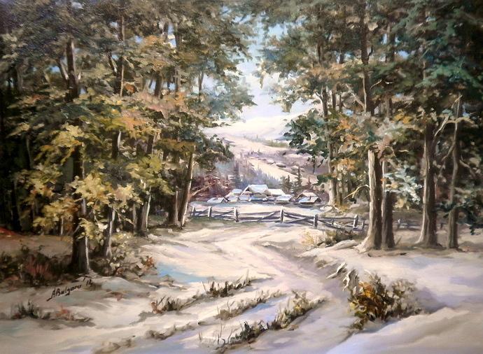 Picturi de iarna TRECATORILE IERNII