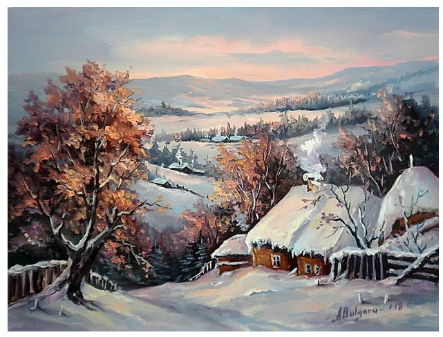 Picturi de iarna ULITA CU IARNA