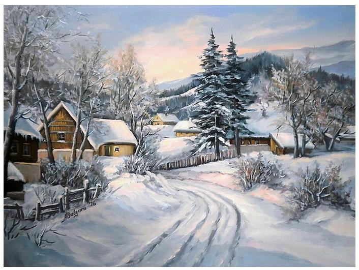 Picturi de iarna ZAPEZILE DE ALTADATA