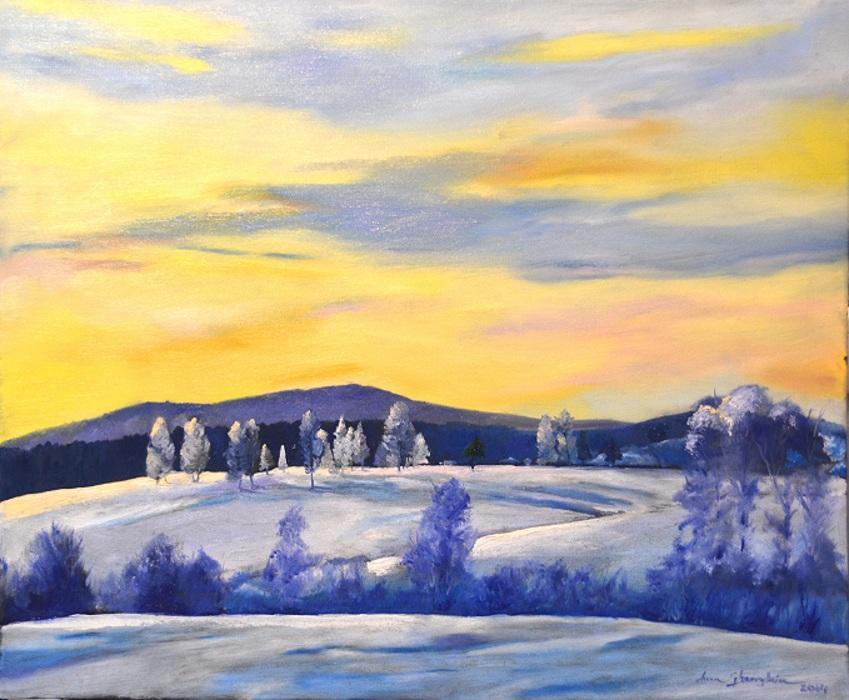 Picturi de iarna Peisaj de iarna 01