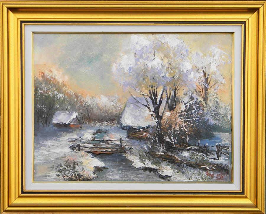 Picturi de iarna AMURG DE IARNA GEROASA