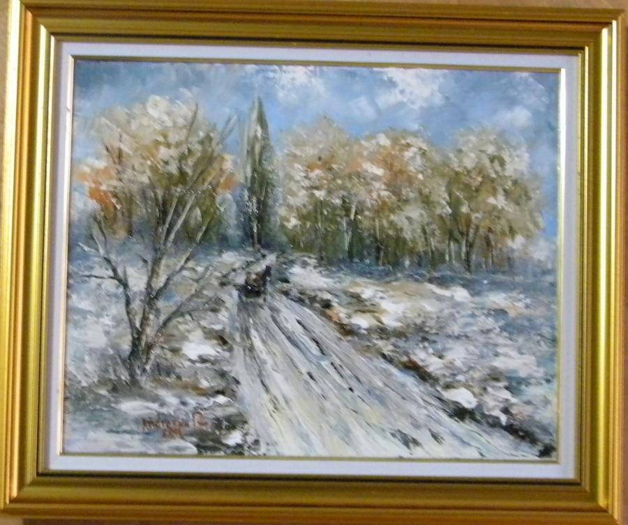 Picturi de iarna Iarna pe camp