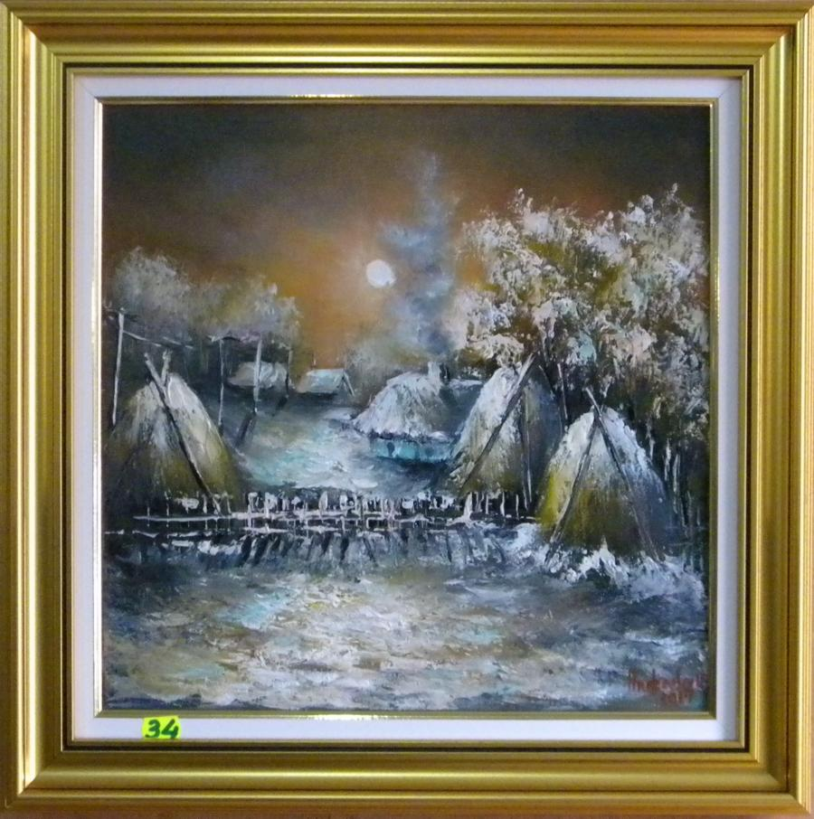 Picturi de iarna NOAPTE DE IARNA INGHETATA