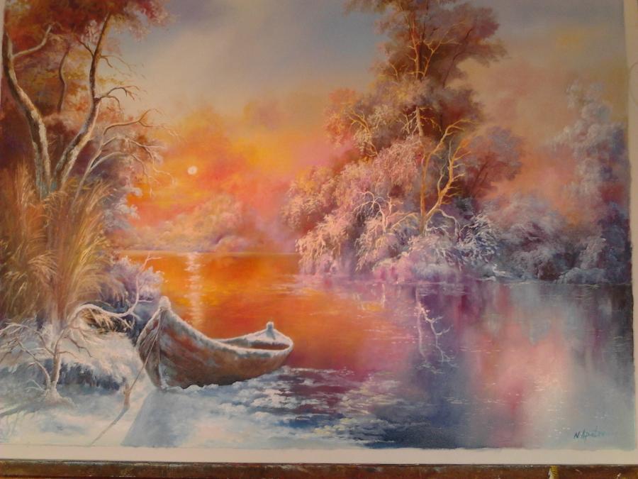 Picturi de iarna iarna in delta n