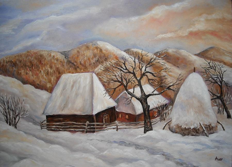 Picturi de iarna Peisaj de iarna -
