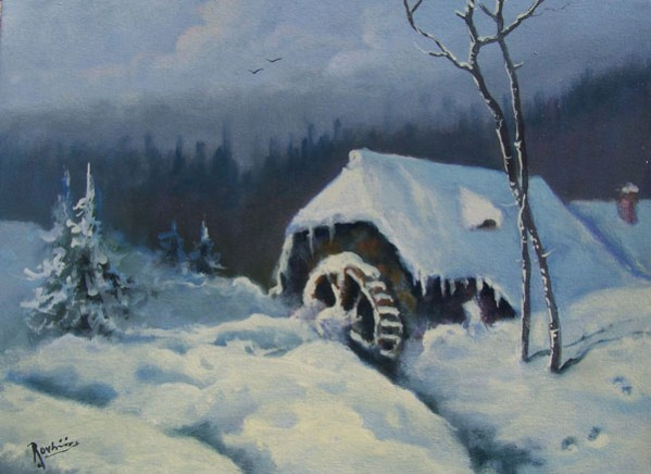 Picturi de iarna Iarna la munte 2