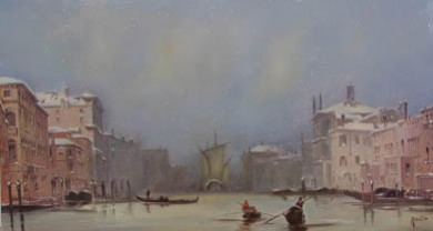 Picturi de iarna Venetia iarna