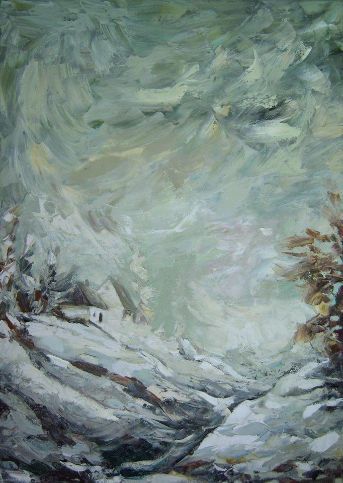 Picturi de iarna Tablou de iarna grea