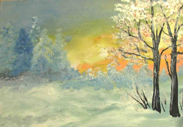 Picturi de iarna In departare