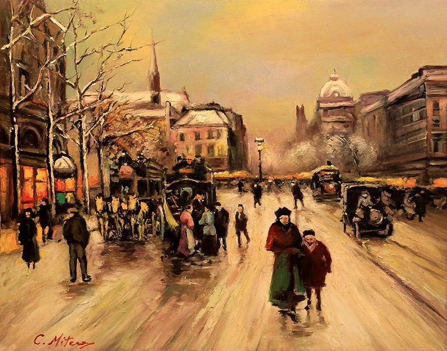 Picturi de iarna Citadina 12