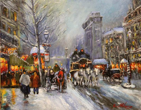 Picturi de iarna Citadina 24