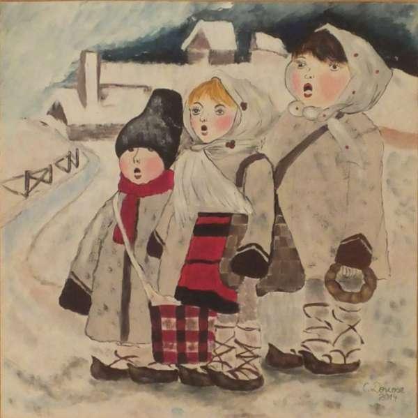 Picturi de iarna Colindatori