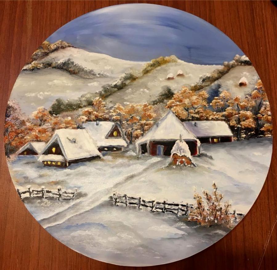Picturi de iarna Peisaj de iarna 004