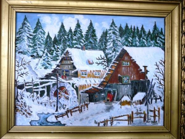 Picturi de iarna Moara de apa