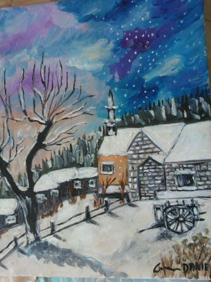 Picturi de iarna cod-147 ninsoarea