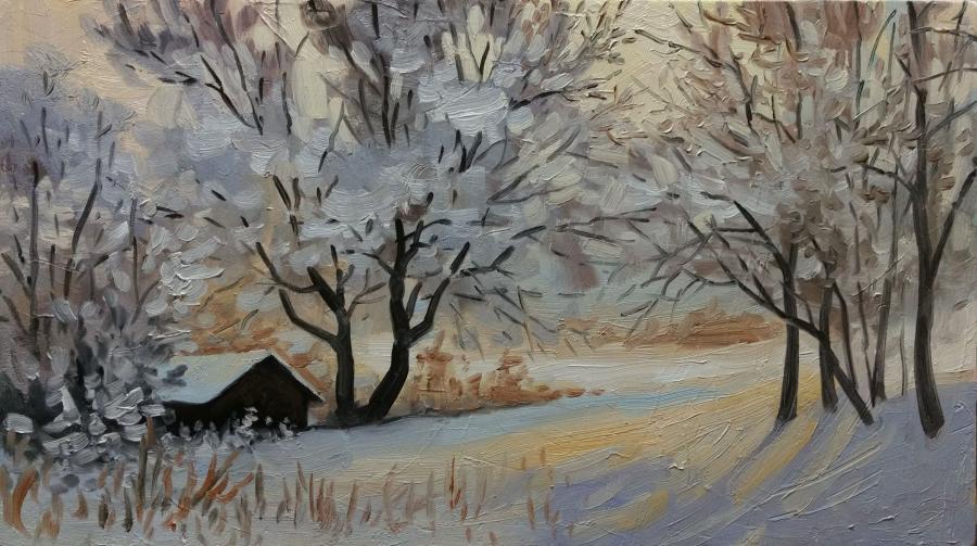 Picturi de iarna iarna oranj E.S. 2017
