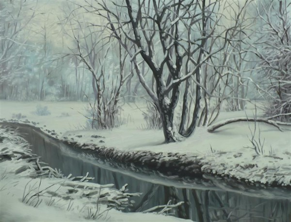 Picturi de iarna Paraul inghetat