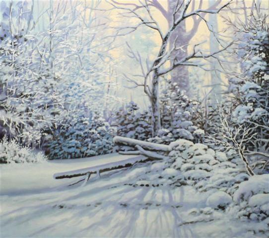 Picturi de iarna Soarele iernii
