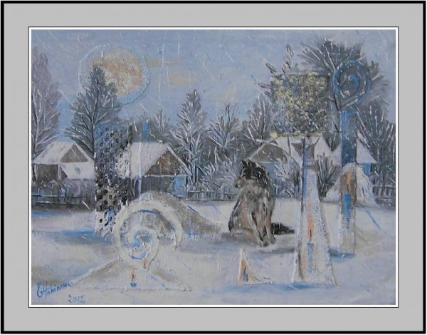 Picturi de iarna Altarul strajerului