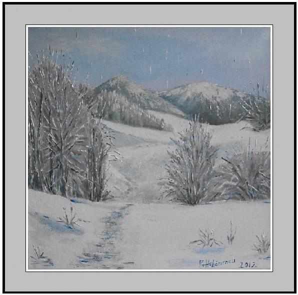Picturi de iarna O zi de iarna