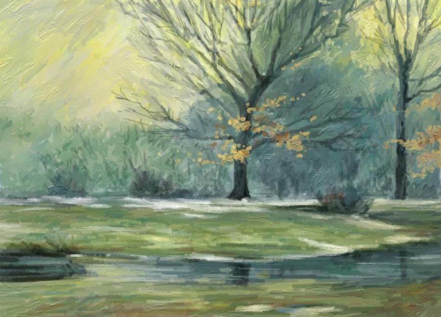 Picturi de iarna peisaj iarna 11