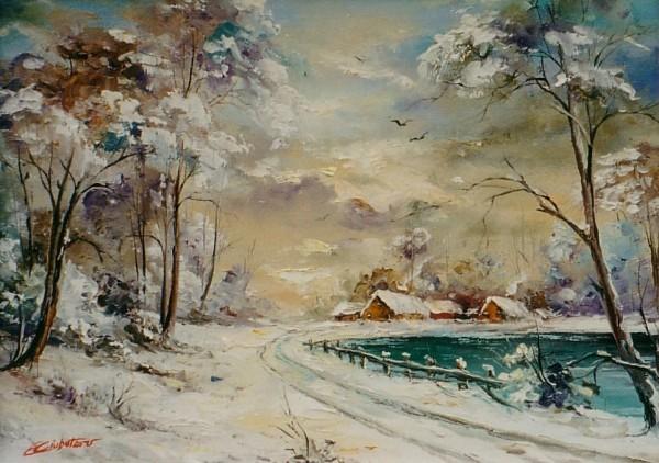 Picturi de iarna Iarna- 4