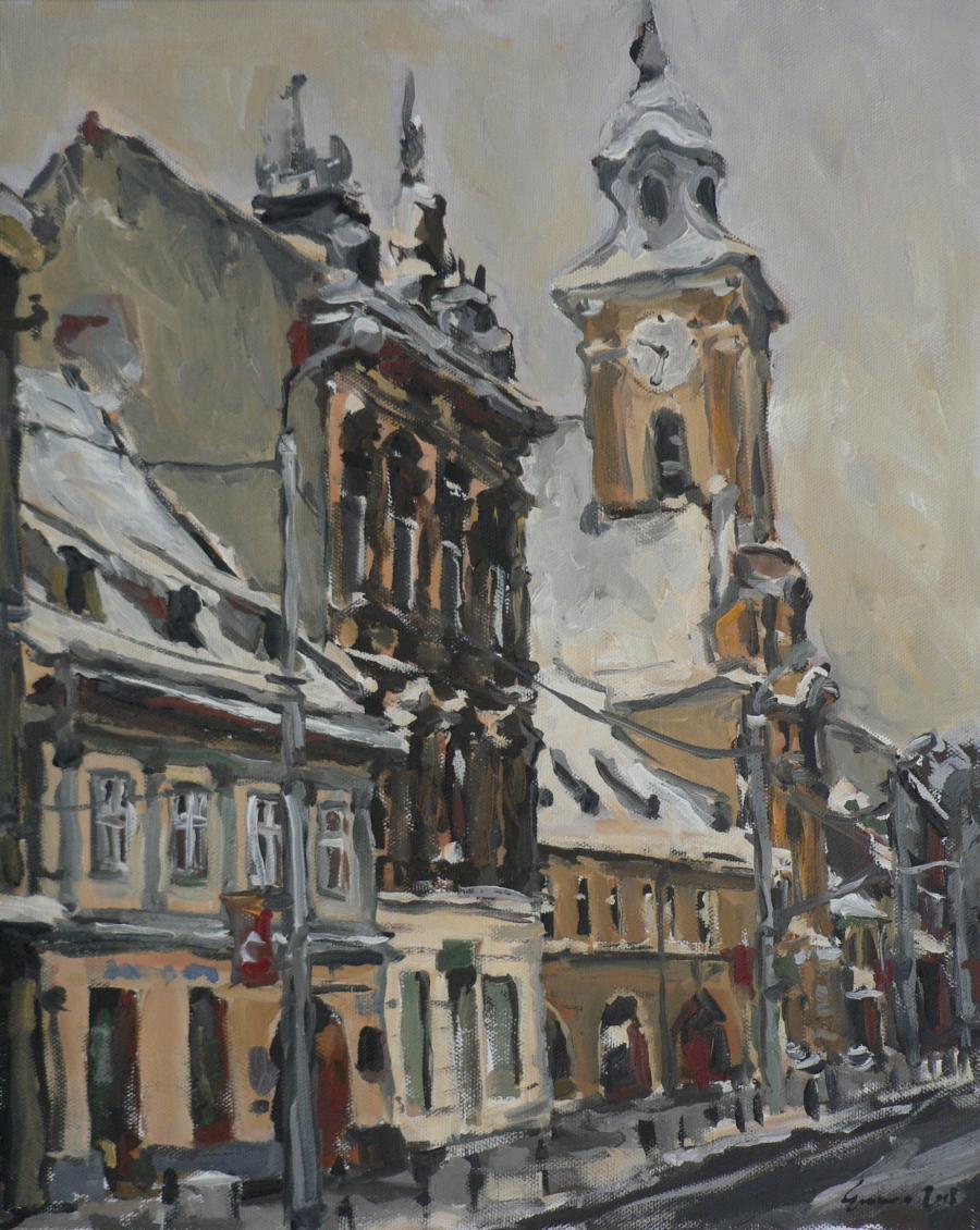 Picturi de iarna Iarna la brasov