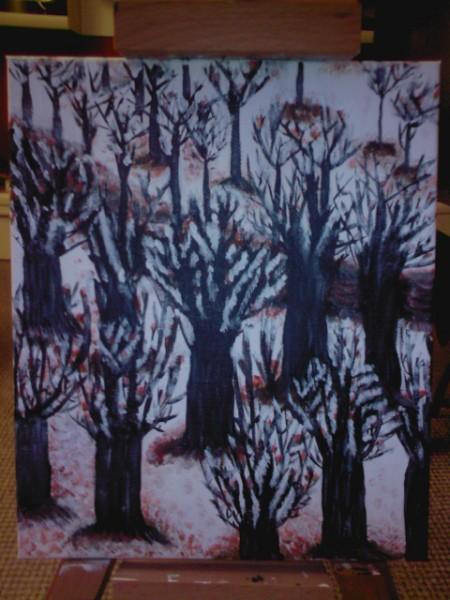 Picturi de iarna Poteca in padurea bogatii