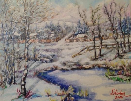 Picturi de iarna Moina