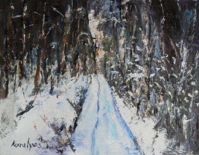 Picturi de iarna  Padure  iarna