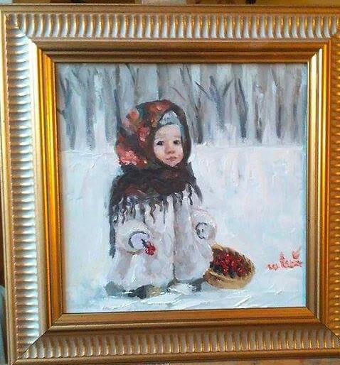 Picturi de iarna Flori prin nameti