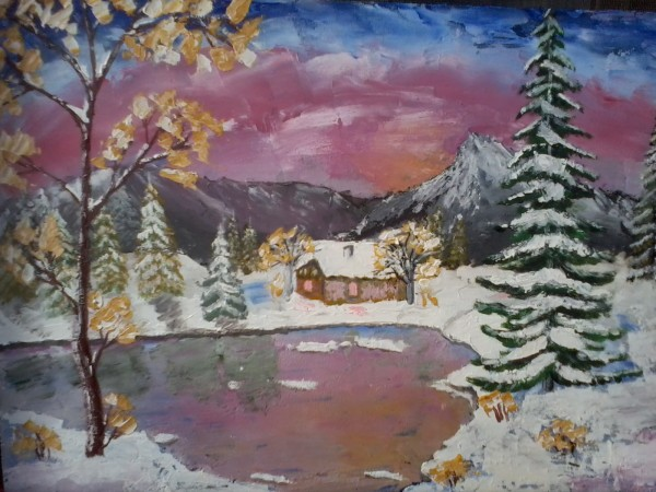 Picturi de iarna Iarna pe inserat