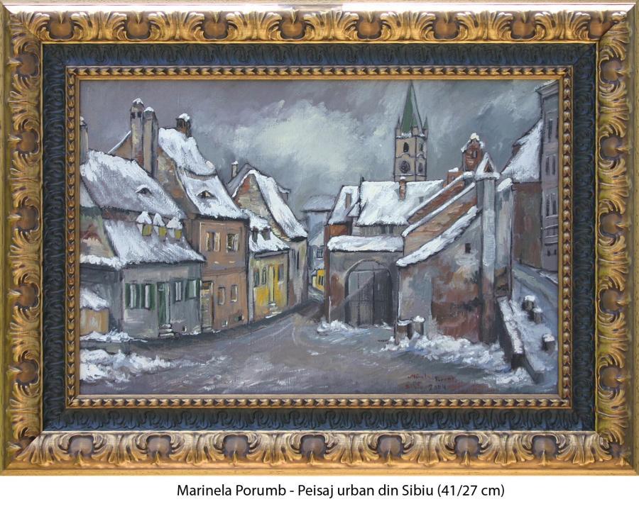 Picturi de iarna Peisaj urban din Sibiu
