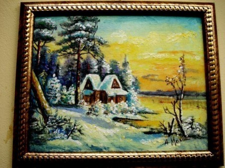Picturi de iarna O zi de iarna1